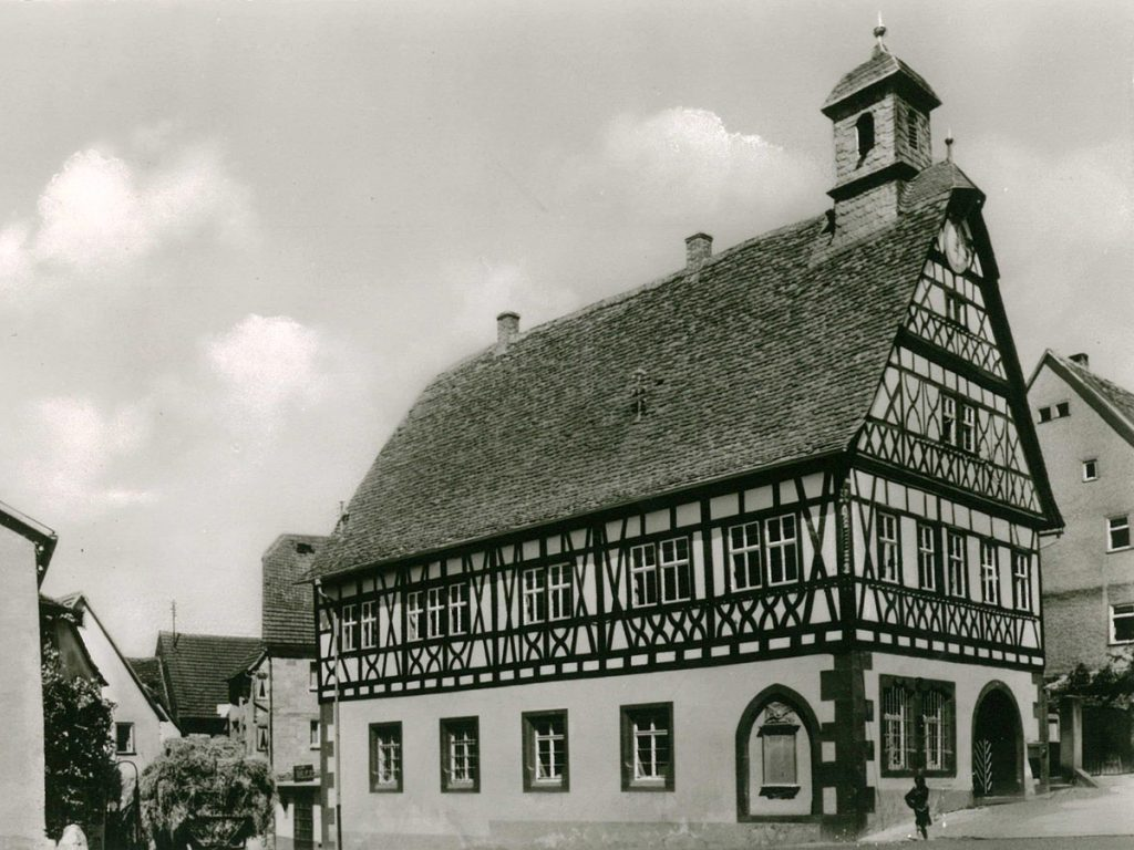 Altes Rathaus Külsheim ca. 1950-55