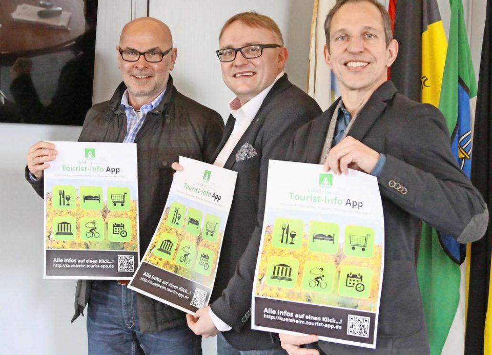Pressefoto: Vorstellung der Külsheimer Tourist-Info App
