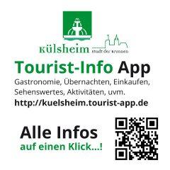 Tourist-Info App Werbehinweis, Aufkleber