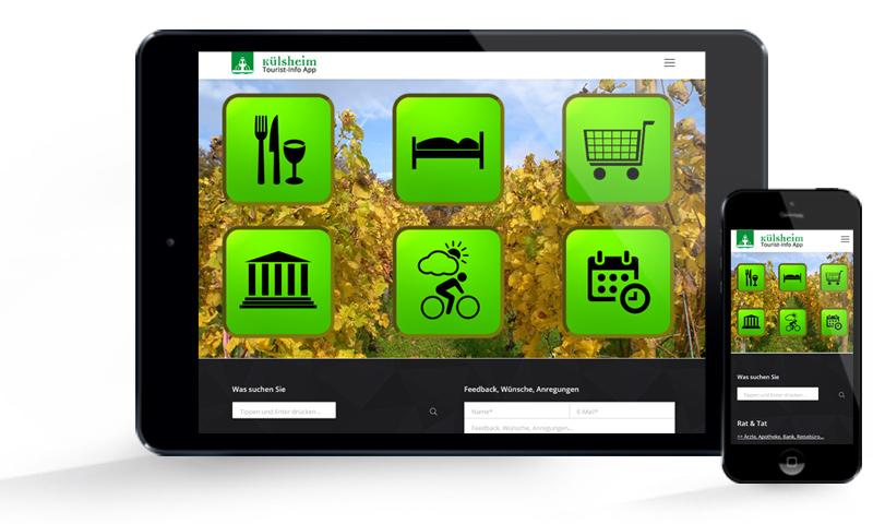 Külsheimer Tourist-Info App - Screens